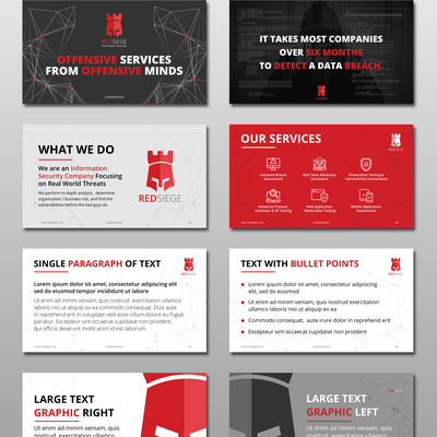 Bold PowerPoint Template for a Cyber Security Firm