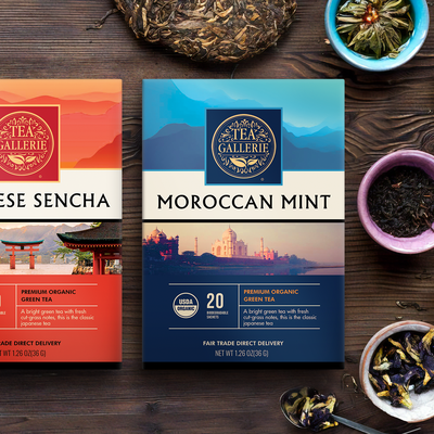 Tea boxes, packaging design