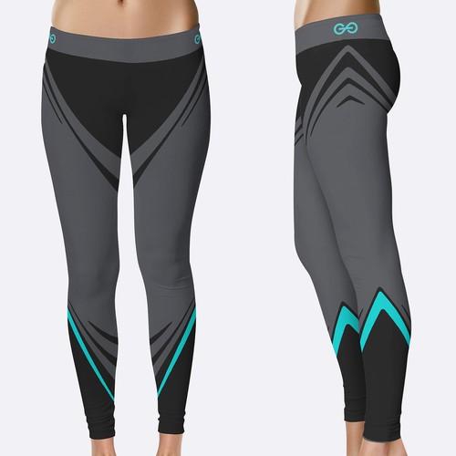 Sportswear design with the title 'Athletic leggings for women'
