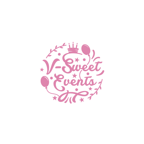 Birthday logo with the title 'V-sweet Event'