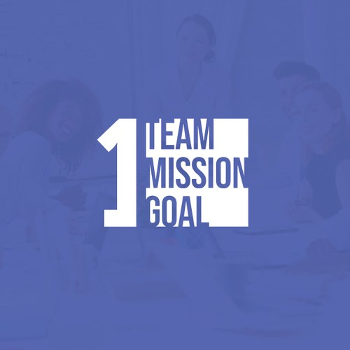Meeting logo with the title 'One team, one mission, one goal'