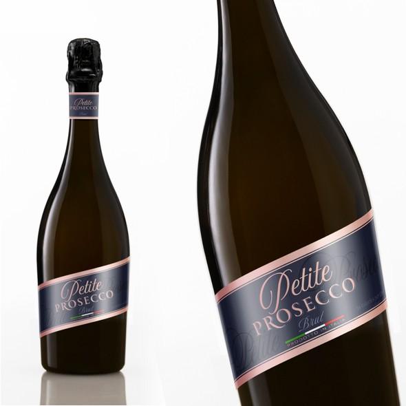 Champagne design with the title 'Petite Prosecco'