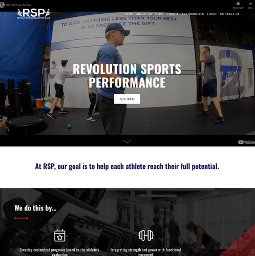 HTML website with the title 'Exciting Fitness Performance Modern Redesign'