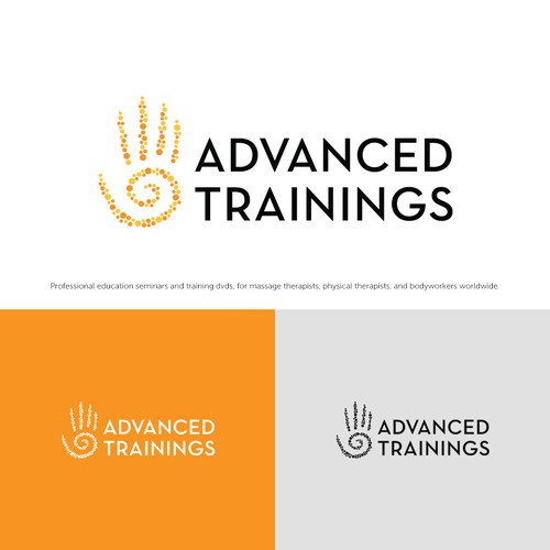 Healthcare logo with the title 'Advanced Trainings'