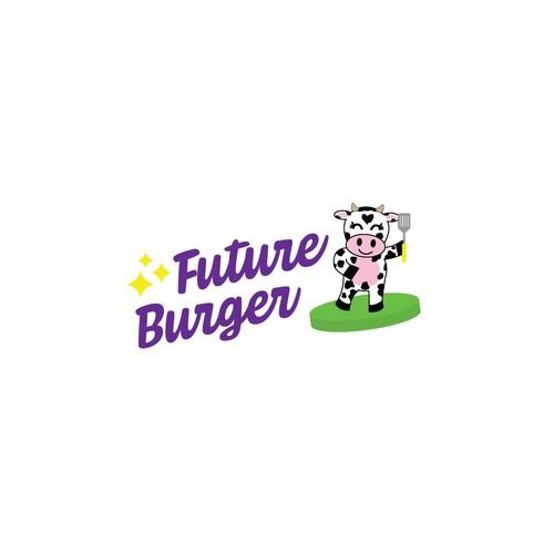 Plant-based logo with the title 'Fun Logo For Futuristic Food Company'