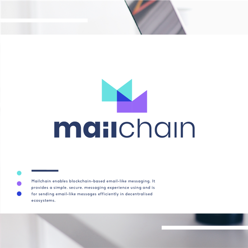 Mail design with the title 'mailchain'