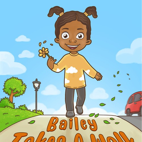 Toddler design with the title 'Bailey Takes a Walk '