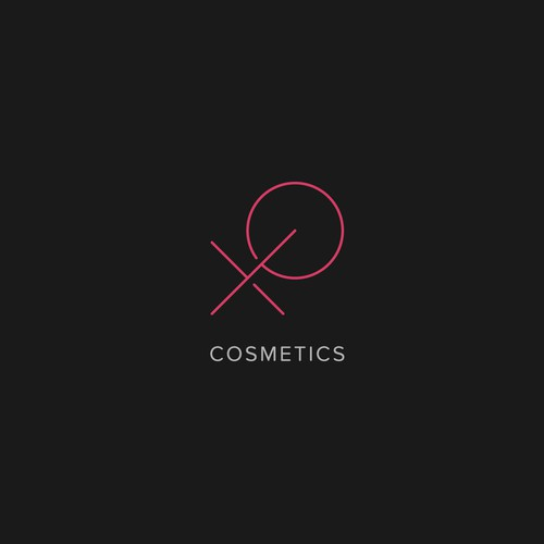 Thin logo with the title 'XO Cosmetics'