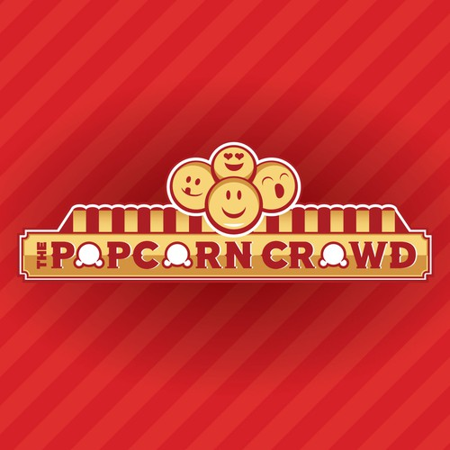 Crowd logo with the title 'Popcorn crowd logo'