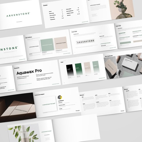 Expensive design with the title 'Arkenstone Brand Guide'