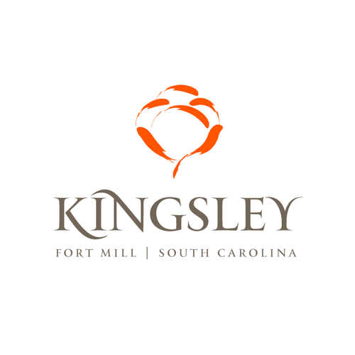 Subtle logo with the title 'Kingsley Town Center Logo'