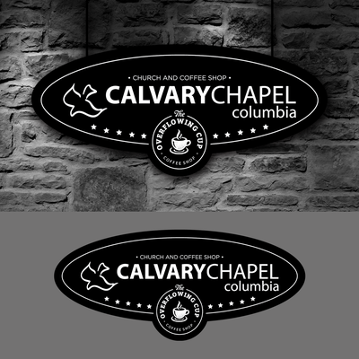 Signage for a Church chapel and also a Coffee Shop