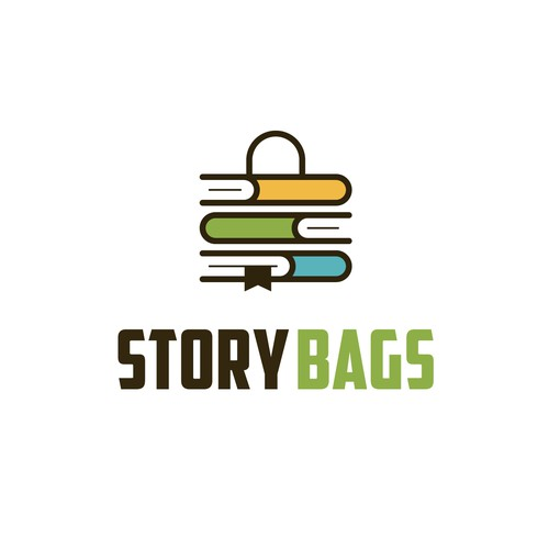 Bag logo with the title 'Book + Bag + Story'