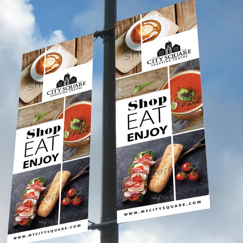 Enjoy design with the title 'Outdoor banners'