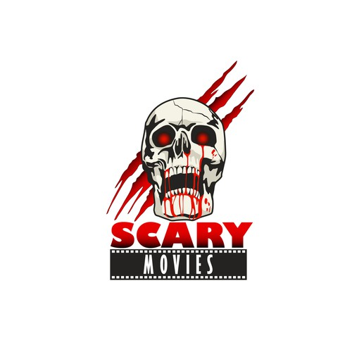 Bloody design with the title 'Scary Movies'