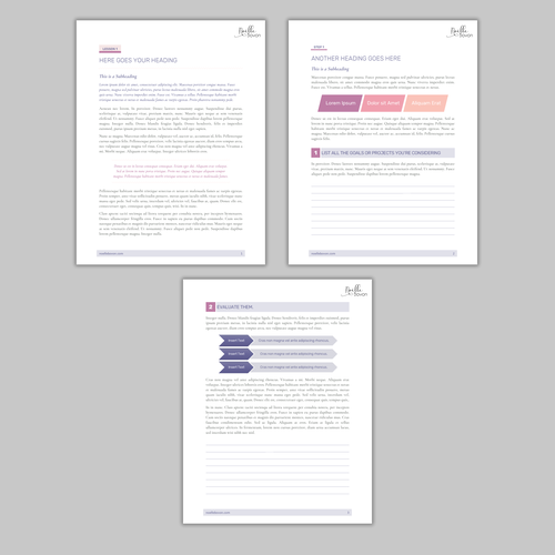 Word design with the title 'Word document for an inspiration course'