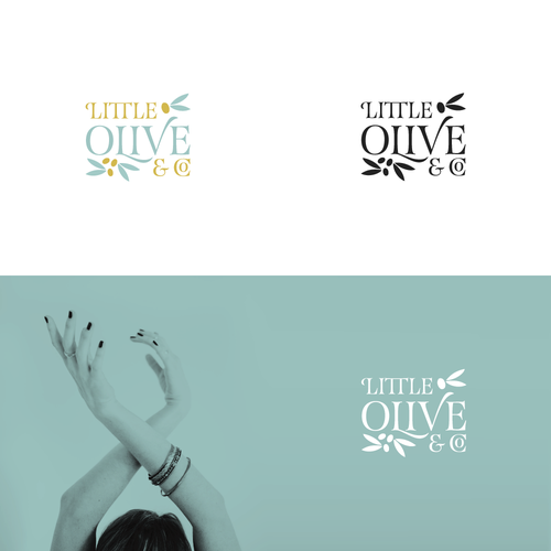 Jewelry logo with the title 'Logo for Little Olive & Co.'