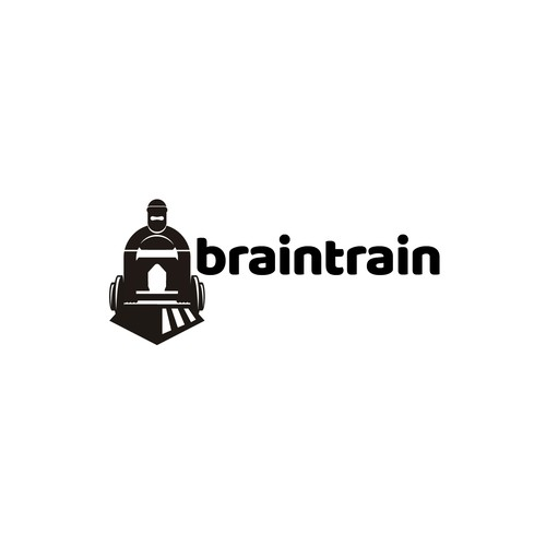 Optical logo with the title 'train and training imagery in an optical illusion.'