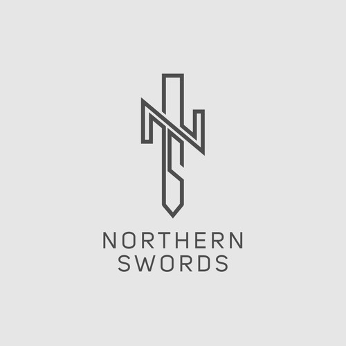 North logo with the title 'Logo Concept for Northern swords'