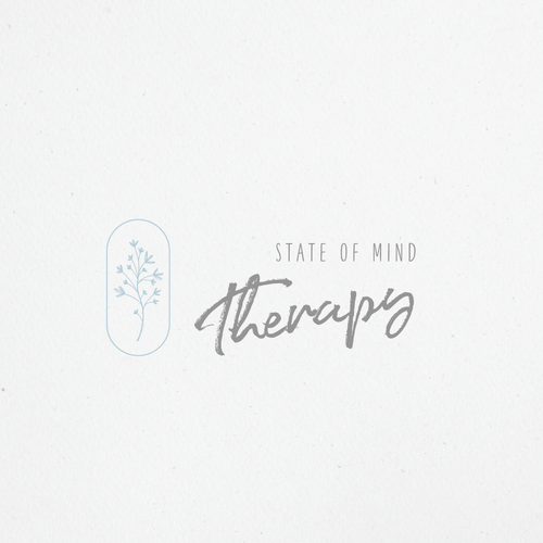Calming design with the title 'Calming logo concept for therapist'
