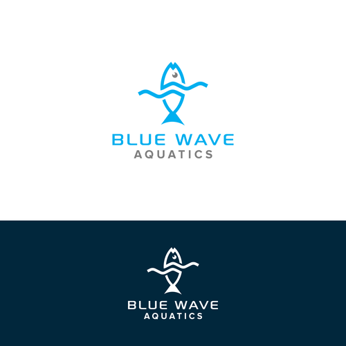 Aquarium logo with the title 'Modern and Sophisticated logo for Aquarium Fish and Equipment Shop'
