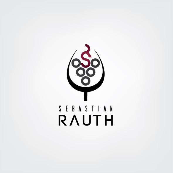 Wine logo with the title 'Sebastian Rauth'