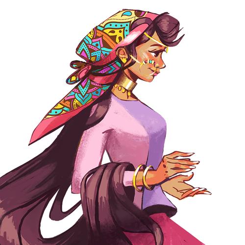 Princess design with the title 'Indian Princess'