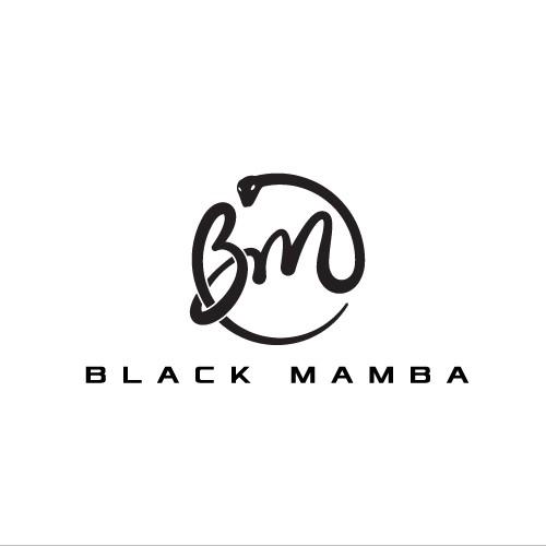 Python logo with the title 'Elegant fashion logo for Black Mamba'