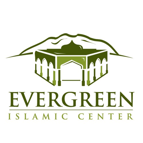 Center logo with the title 'Modern Logo for Islamic Center'