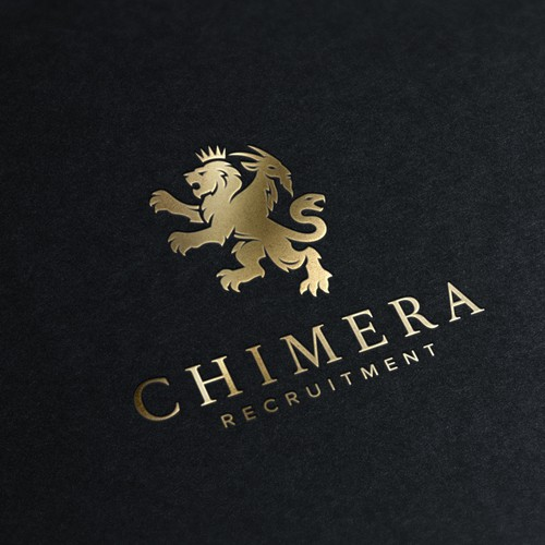 Luxury brand with the title 'A modern look on a classic heraldic chimera logo.'
