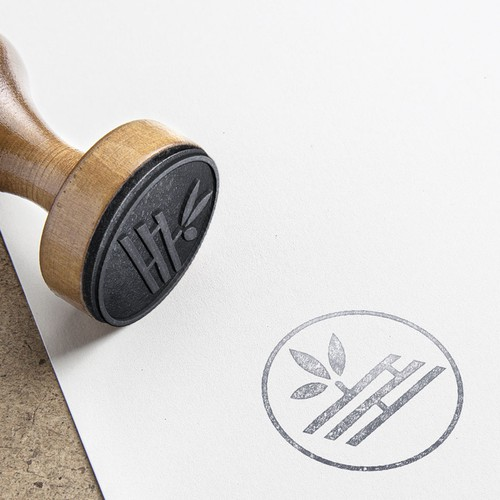 Bamboo logo with the title 'Natural Clothing line Logo'