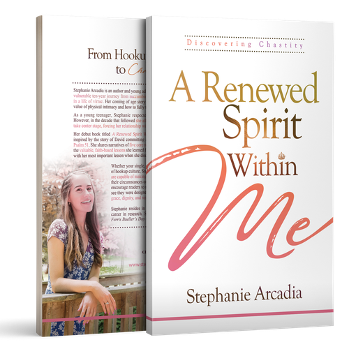 Jesus design with the title 'A Renewed Spirit Within Me'