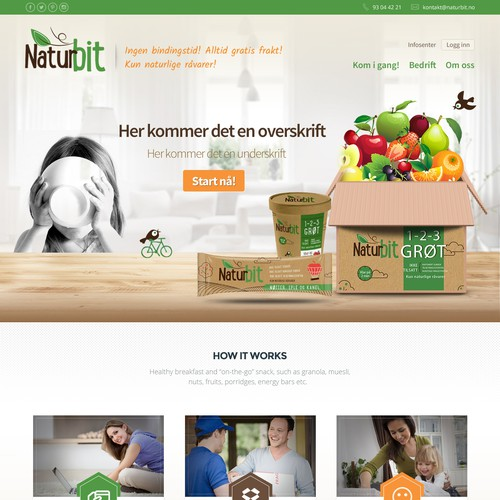 Subscription website with the title 'Monthly Subscription snacks Website'