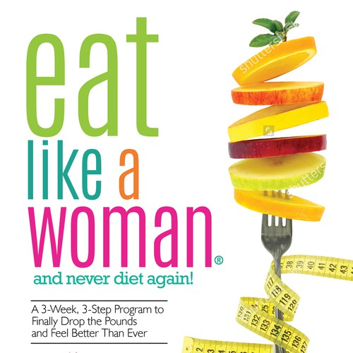 Body design with the title 'Eat like a woman'