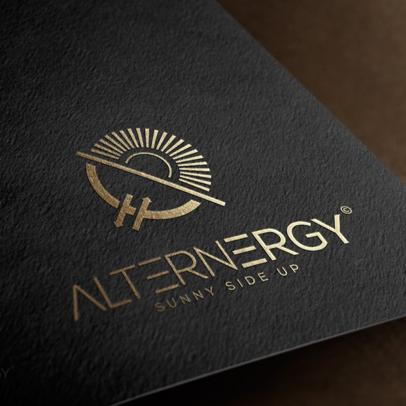 Renewable energy design with the title 'Logo for renewable energy company.'