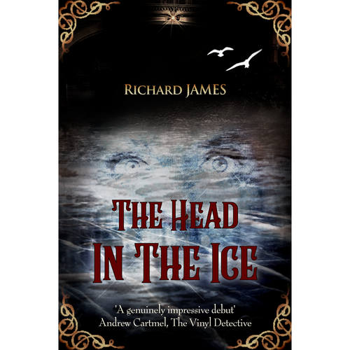 Victorian book cover with the title 'The Head In The Ice'
