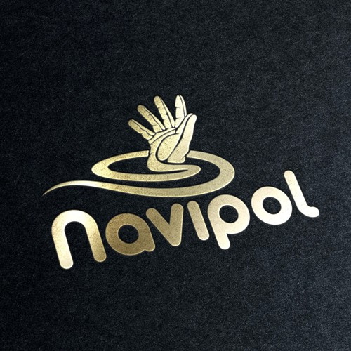 Glove design with the title 'navipol'