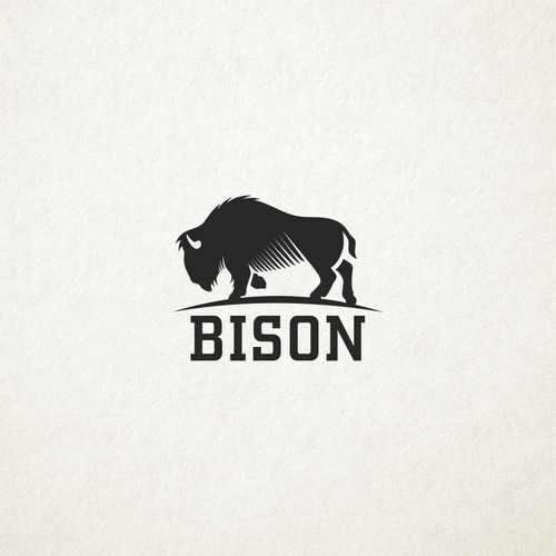 Buffalo design with the title 'Bison'