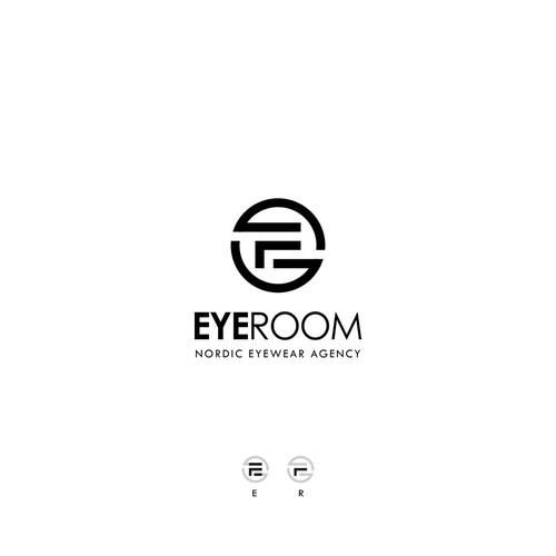 Optical design with the title 'EYEROOM - NORDIC EYEWEAR AGENCY'