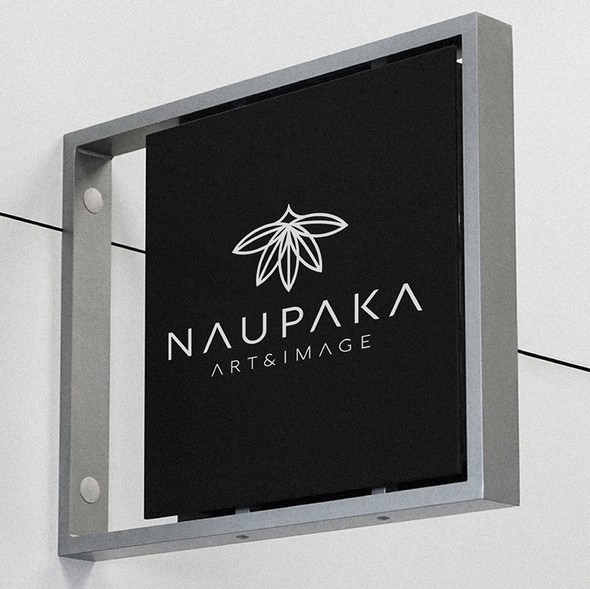 Black and white design with the title 'Naupaka '