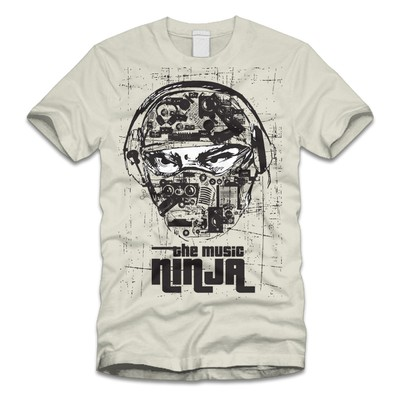 "Help Create New Tee Shirt Logo For ""THE MUSIC NINJA""  Blog"