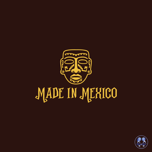 Clay design with the title 'mexico'