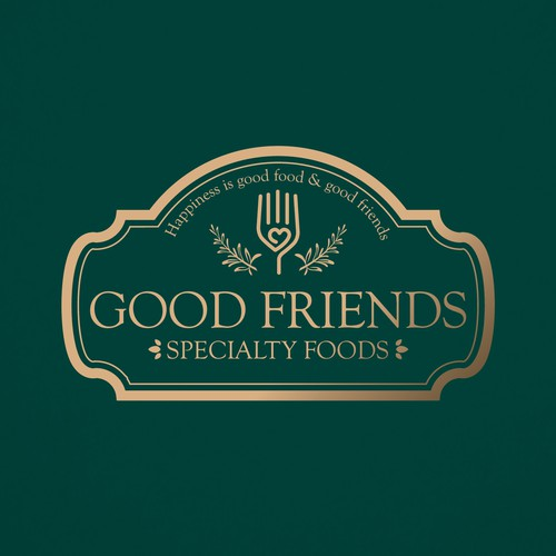 Healthy food logo with the title 'Label & Logo to Good Friends'