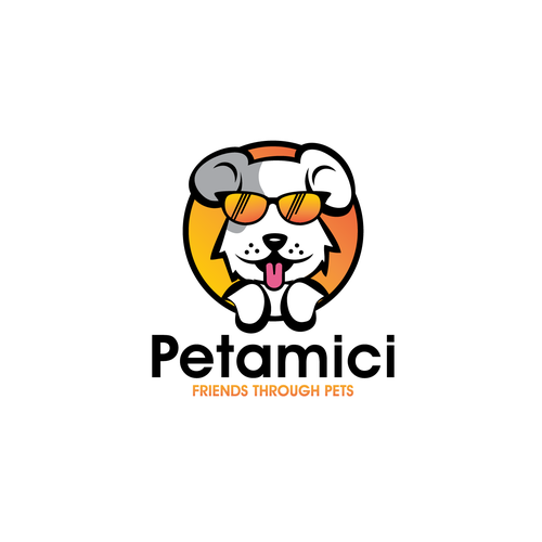 Pet care logo with the title 'dog pet logo'