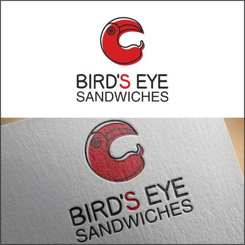 Asian food logo with the title ' Southeast Asian sandwich shop Bird's Eye '