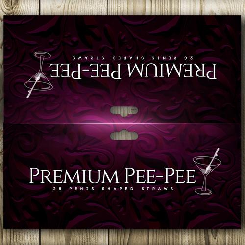 Logo label with the title 'Premium Pee-Pee'