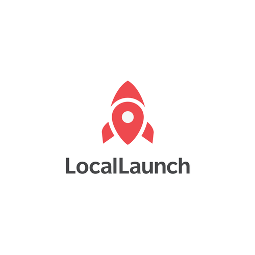 Location pin logo with the title 'Local Launch'
