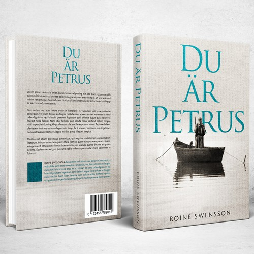 Religious design with the title 'Book Cover design for Du är Petrus (You are Peter)'