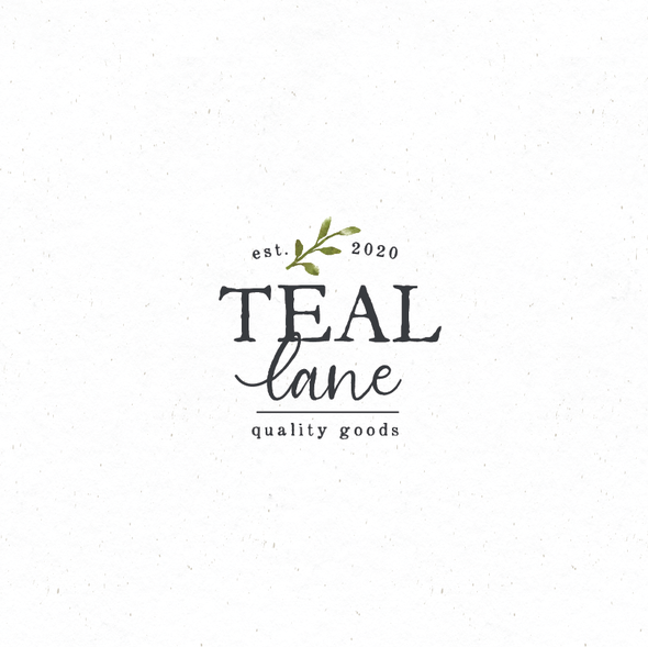 Quality logo with the title 'Teal lane'