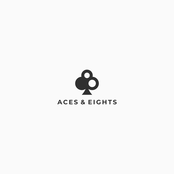Gambling design with the title 'Aces & Eights'